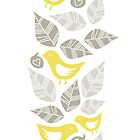 yellow birds vertical illustration by demonique