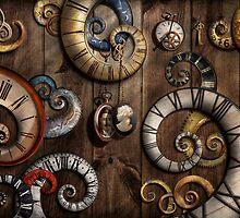 Steampunk - Clock - Time machine by Mike  Savad