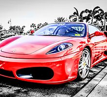 Red Ferrari F430 Italian Sports Car  by Chris L Smith