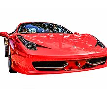 Red Ferrari 458 Italian Sports Car  by Chris L Smith