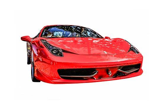 Red Ferrari 458 Italian Sports Car  by Chris L Smith