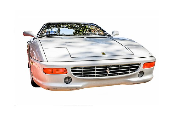 White Ferrari F355 GTS Italian Sports Car by chris-csfotobiz