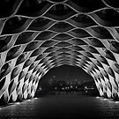 Wooden Arch at night in Chicago'sLincoln Park by Sven Brogren