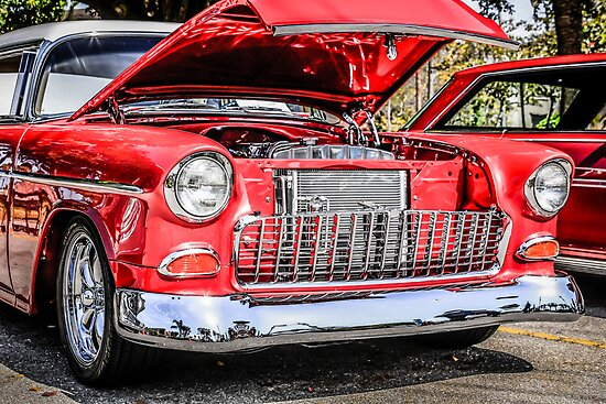1955 Chevrolet Bel Air American Classic Car by Chris L Smith