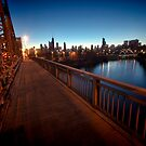 Chicago RIver and Skyline at dawn by Sven Brogren