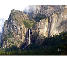 A moment of sun on a rainy day in Yosemite Photographic Print