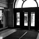 Looking out of the Fine Arts Building doorway in Chicago by Sven Brogren