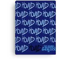 Sherlock Minimalist poster-style Shirts and art-The Hound of Baskerville, S2E2 Canvas Print