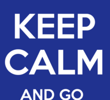 Keep calm and go to the library! Sticker