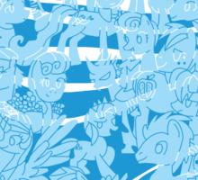 mlp - Rainbow dash blue Sticker