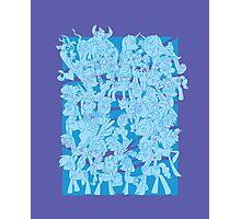 mlp - Rainbow dash blue Photographic Print