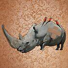 Big Headed Rhino by Odakai