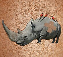 Big Headed Rhino by Odakai