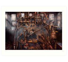Train - Engine - Hot under the collar  Art Print