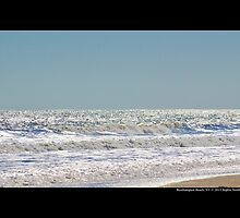 Atlantic Ocean Silver Surface - Westhampton Beach, New York by © Sophie W. Smith