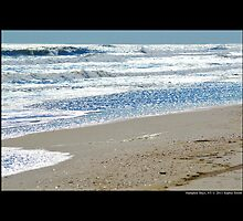 Atlantic Ocean Silver Waves - Hampton Bays, New York  by © Sophie W. Smith