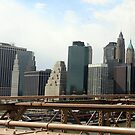 Manhattan Panorama from the Brooklyn Bridge by Kezzarama