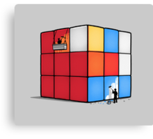 Solving the cube Canvas Print