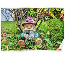 Funny garden gnome HDR Poster