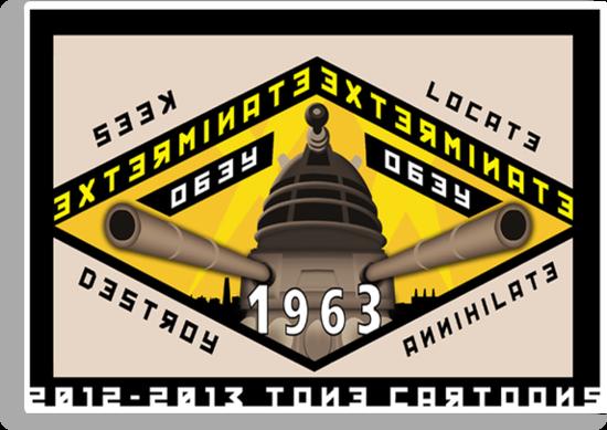 Battleship Dalek 1963 by ToneCartoons