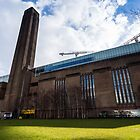 Tate Modern in a Sunny and cloudy day by Mattia  Bicchi Photography