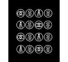 Camera kit icons Photographic Print