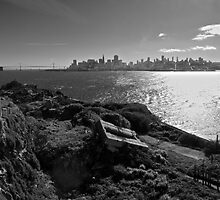 View of San Francisco from Alcatraz Island by Phil McComiskey