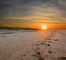 Thornham Beach Sunset, Norfolk, England by esheehan96