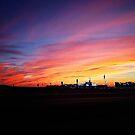 Beautiful Drive-By Sunset by Glenna Walker
