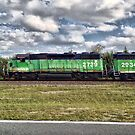 Moving Train Drive-By Shot by Glenna Walker