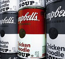 """Soup"" - A Tribute to Andy Warhol (Larger) by Dawn Barberis-Viczai"