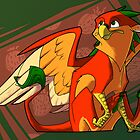 Strawberry gryphon by The Tundra Ghost