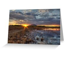 Elements of Sunset 1 Greeting Card