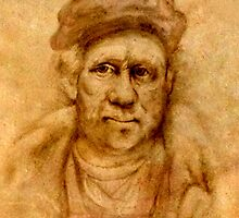 Rembrandt from his self portrait by Troy Brown