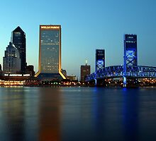 Jacksonville Skyline just before dusk by Dani Gee Phokus & [x]Pose