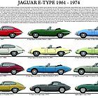 Jaguar E-Type XKE 1961 to 1974 model chart  by JetRanger