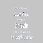 If People Were Rain I Was A Drizzle & She Was A Hurricane by grungeandglam