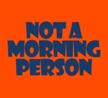 Not a morning person Kids Clothes