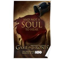 Game of Thrones Season 3 Wine poster Poster