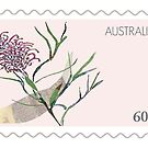 Stamp series: Waratah by drunkonwater