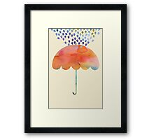 Rainbow Umbrella Framed Print