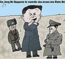 Kim Jung UN dessin politique comique by Binary-Options