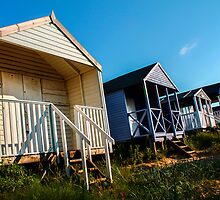 Beach Huts at Sunset, Norfolk, England by esheehan96
