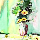 Yellow Flowers 1 by Anil Nene