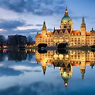 City Hall of Hannover in the evening by Mapics
