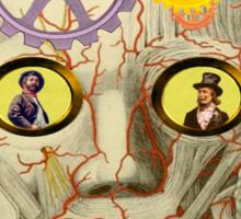 Steampunk Surreal Head Sticker