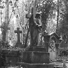 Highgate Cemetery Angel Cross by himmstudios