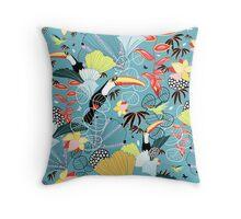 tropical birds Throw Pillow