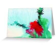 Red and Green Abstract 1 Greeting Card
