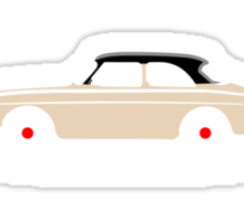 Volvo Amazon White Eerkes Mom and Dad's Car Sticker